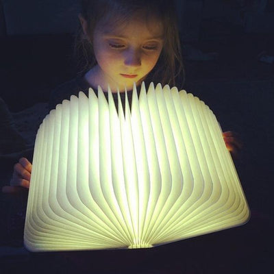 Inspire Uplift Wood Book Lamp