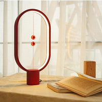 Inspire Uplift Wood Magnetic Table Lamp Red Wood Magnetic Table Lamp