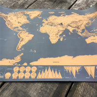 Inspire Uplift World Map Poster Wanderlust Scratch Off Map
