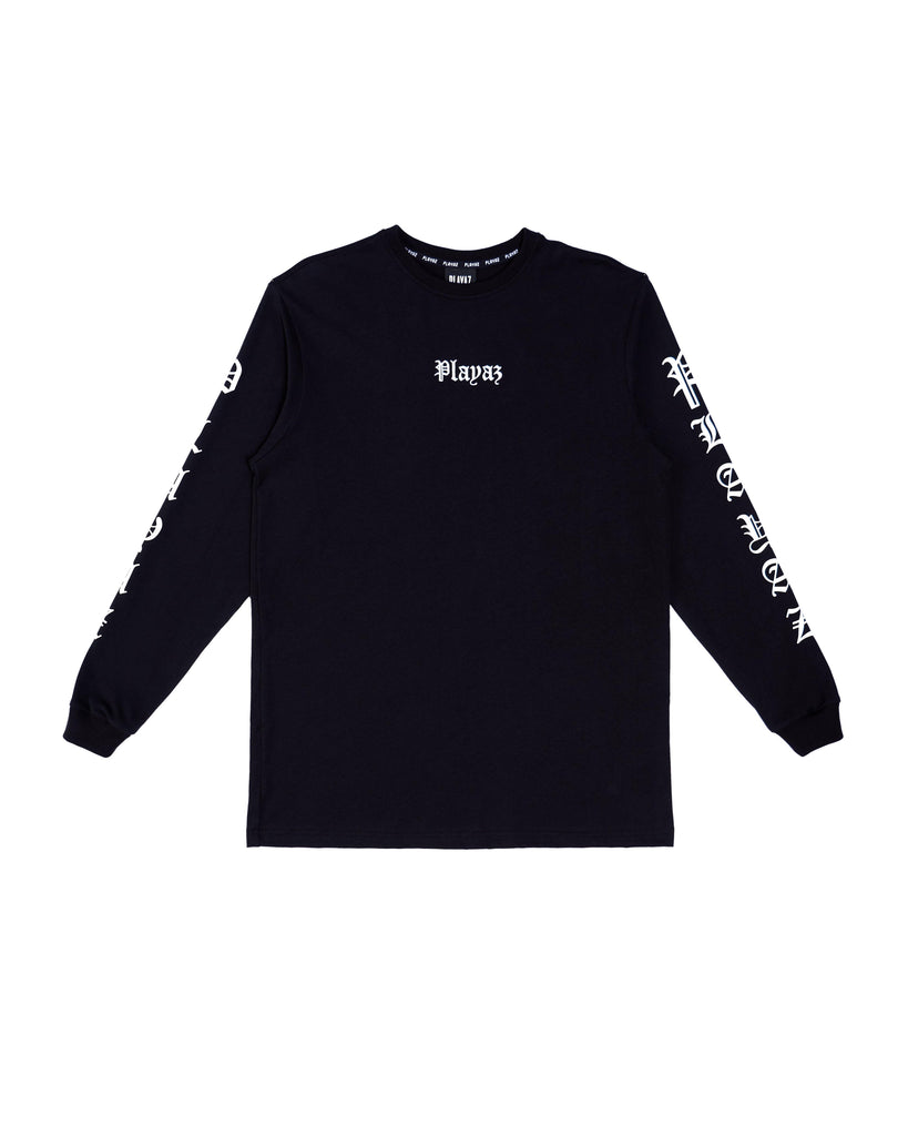 Playaz Gangsta Long Sleeve Black - playaz.my