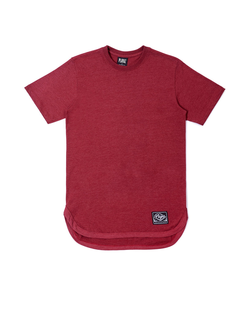 RETRO RED PLAIN TEE - playaz.my
