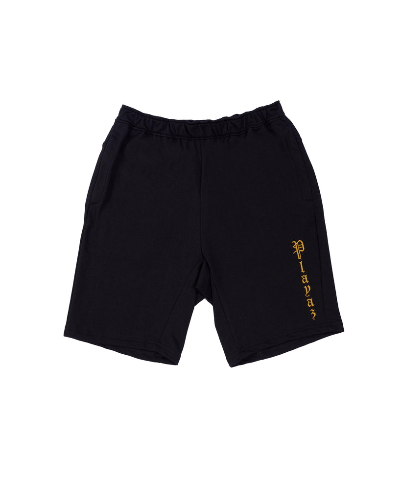Playaz Plata Shorts Black - playaz.my