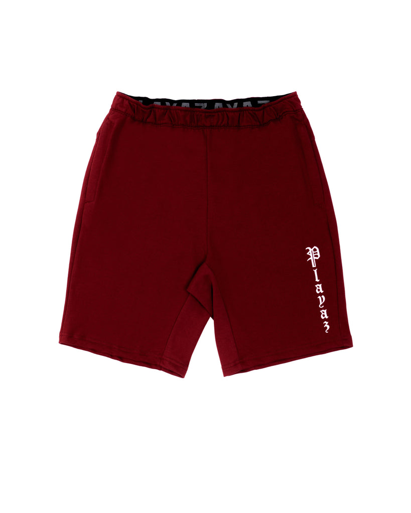 Playaz Plata Shorts Maroon - playaz.my