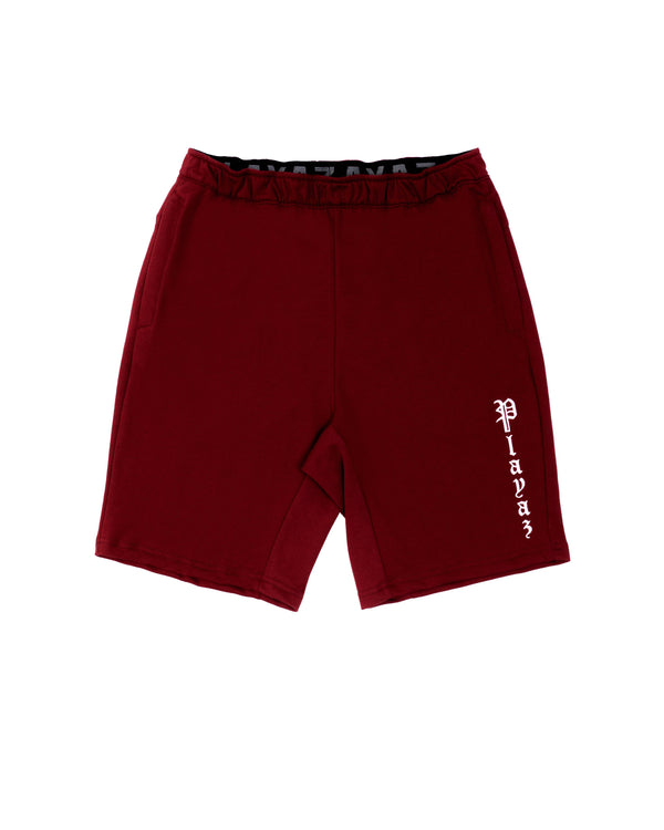 Playaz Plata Shorts Maroon