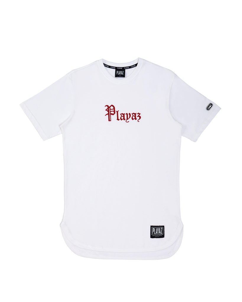 Playaz Plata Oval Tee White - playaz.my