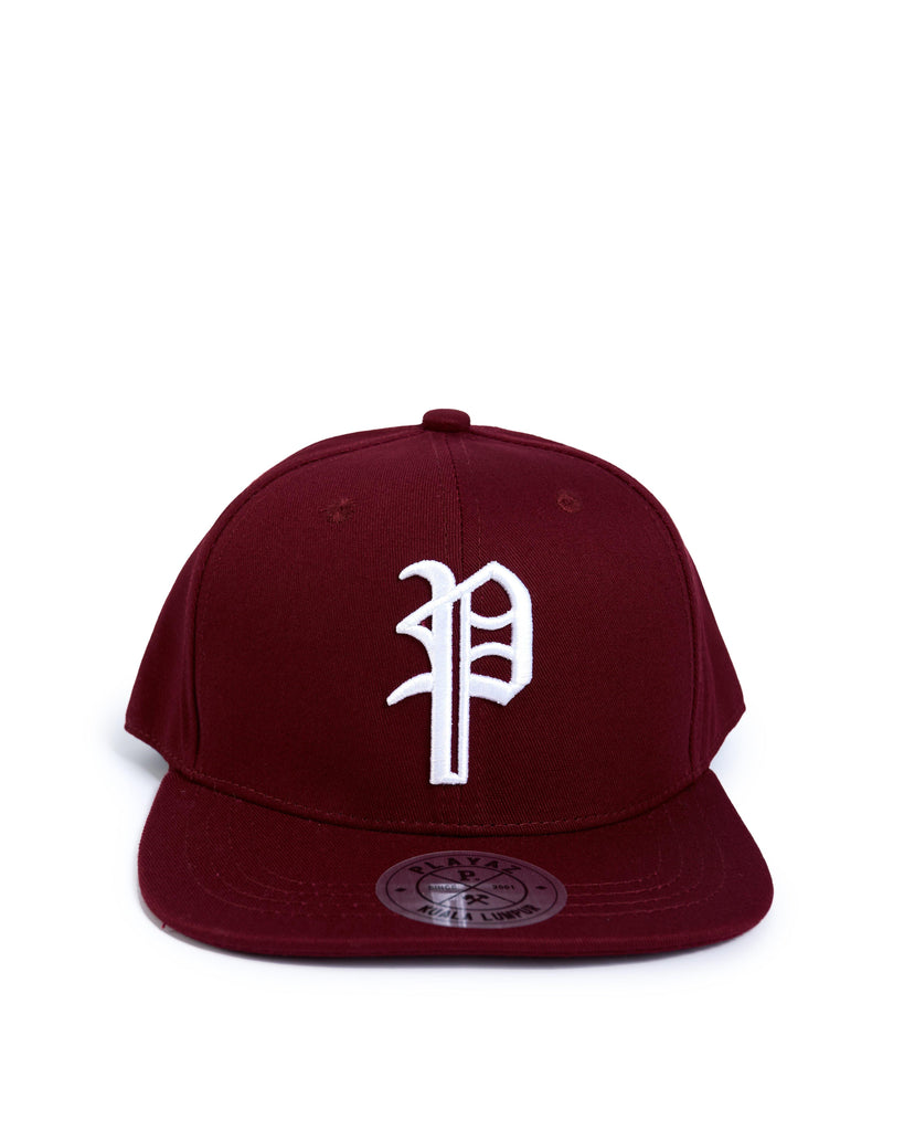 Playaz P Snapback Maroon - playaz.my