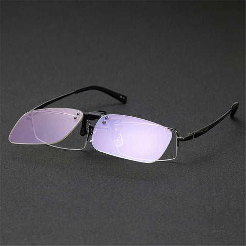 Clear Clip On - Crystal Clear Computer & Gaming Glasses