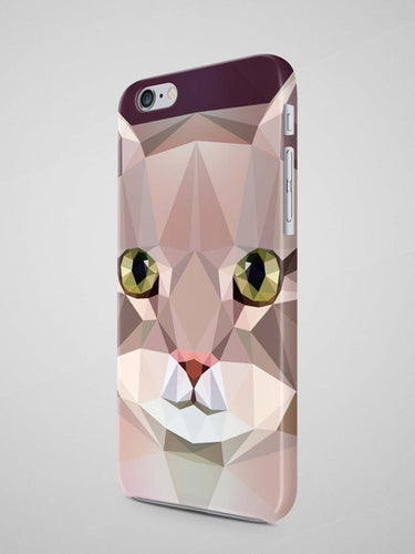 Geometric Cat iPhone X Case Samsung Galaxy Note 8 - Shop at GlamoRight.Com