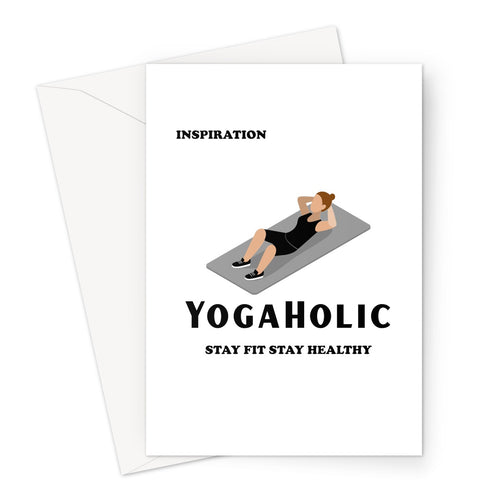 Yogaholic Post Card - Inspire A Loved One
