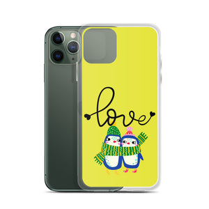 Just Love Yellow iPhone Case