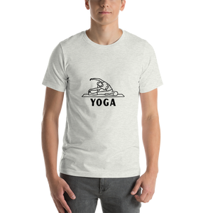 Yoga Aasan Short-Sleeve Unisex T-Shirt