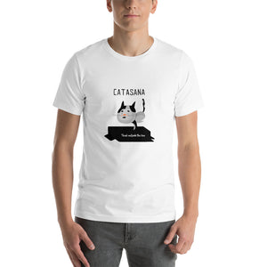 My Cat Likes Yoga Too Short-Sleeve Unisex T-Shirt