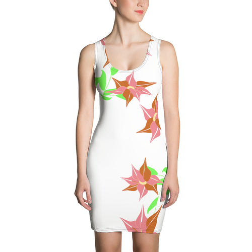 Rhododendron Flower Print Dress