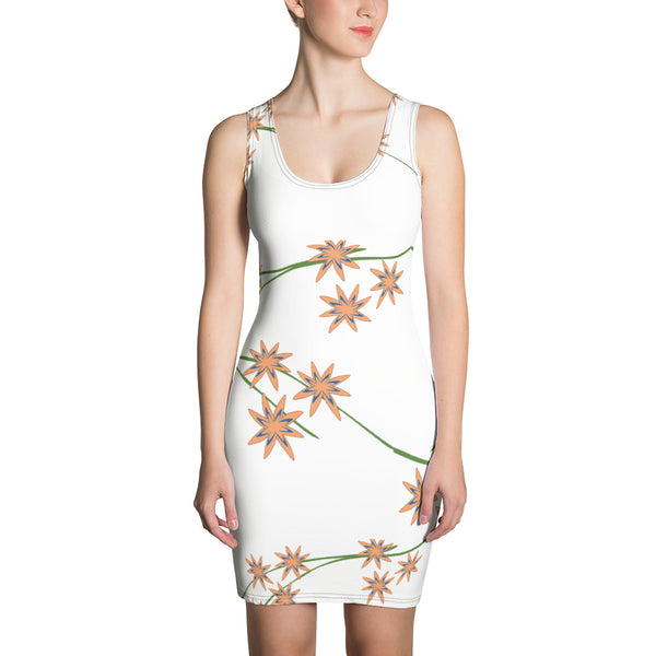 Delphinium floral Shift dress