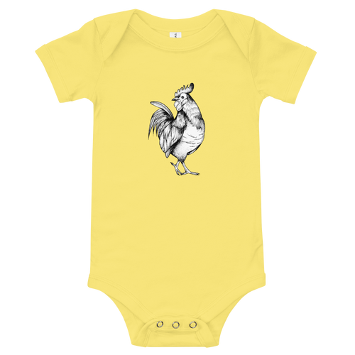 Rooster Themed  Baby Suit Short Sleeve One Piece