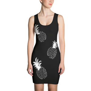 PIneapple Theme Sublimation Cut & Sew Dress