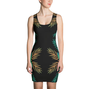 Palm Themed Sublimation Cut & Sew Dress