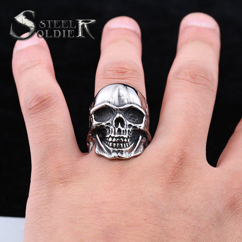 Stainless Steel Skull Ring - Shop at GlamoRight.Com