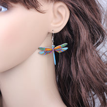 Dragonfly Earrings Acrylic Long Drop Earring - Shop at GlamoRight.Com