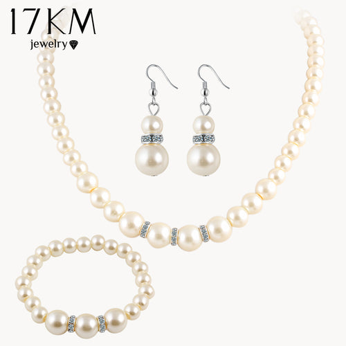 Pearl Wedding Jewelry Set - Shop at GlamoRight.Com