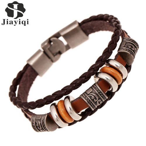 Vintage Beads Handmade Woven Leather Bracelets