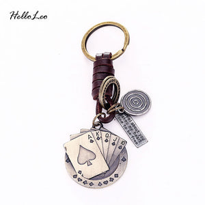 Poker Leather Vintage Punk Key Chains - Shop at GlamoRight.Com