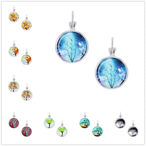 Tree of Life  Pendant Glass Earrings - Shop at GlamoRight.Com
