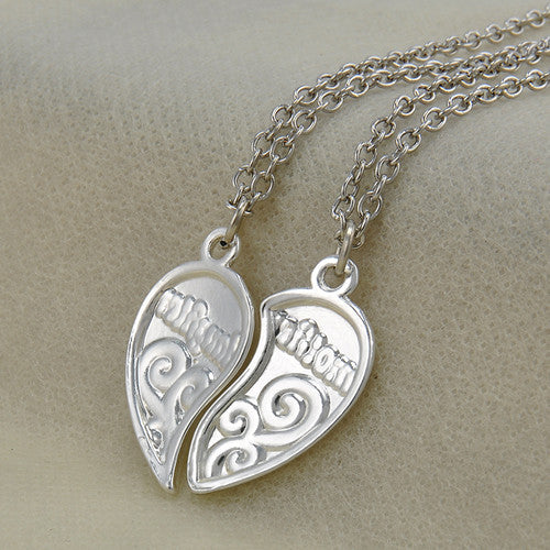 Silver Heart Love Mom Necklaces - Shop at GlamoRight.Com