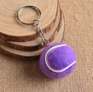 Tennis Ball Metal Keychain - Shop at GlamoRight.Com