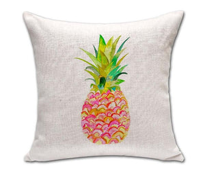 Pineapple Pattern Cotton Linen Throw Pillow Cushion Cover - Shop at GlamoRight.Com