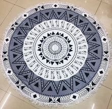 Microfiber Printed Round Beach Towels With Tassel - Shop at GlamoRight.Com