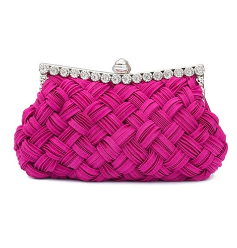 Weave Silk Elegant Clutch Bags - Shop at GlamoRight.Com