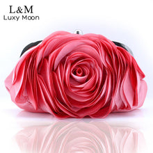 Vintage Fashion Rose Flower Chain Hand Bag Clutch - Shop at GlamoRight.Com