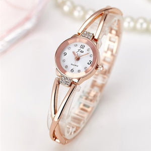 Luxury Rhinestone Stainless Steel Quartz Bracelet Watch - Shop at GlamoRight.Com