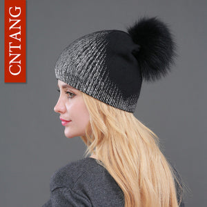 Winter Beanies Knitted Wool Warm Hats