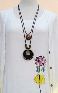 Vintage Wooden Tree Tag pendant necklace - Shop at GlamoRight.Com