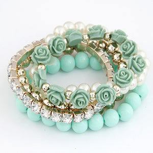Charm Flower Beads Bracelet - GlamoRight.Com