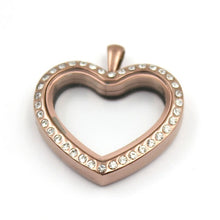 Stainless steel heart shape floating memory Lockets - Shop at GlamoRight.Com