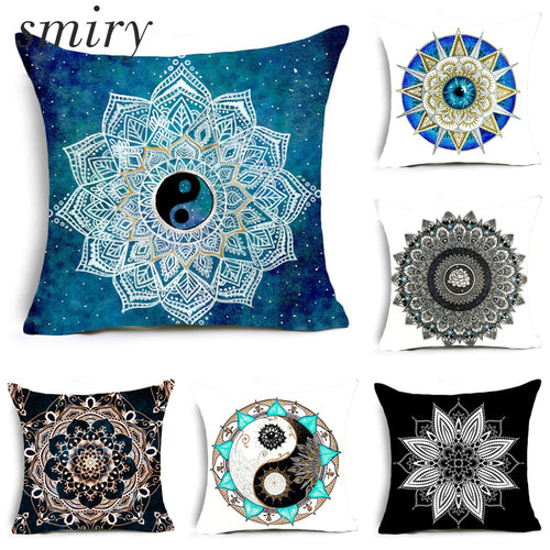 Paisley Bohemia Abstract Geometry Cushion Cover