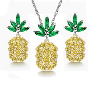 Pineapple Jewelry Set - Shop at GlamoRight.Com