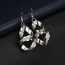 Rhinestone Alloy Spiral Drop Earrings - Shop at GlamoRight.Com