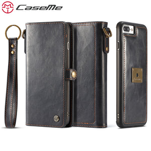 Retro Multifunction Leather Wallet For iPhone 7 7Plus 6 6s Plus