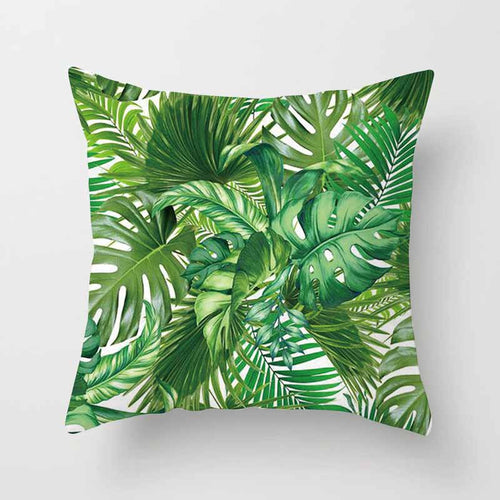 Vintage Tree Tropical Plant Leaves Waist 45*45cm Throw Pillow Cover