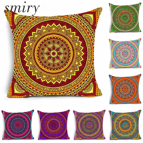 Paisley Bohemia Style Geometry Cushion Cover