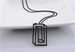 Geometry Alloy Caffeine Molecule Long Necklace - Shop at GlamoRight.Com