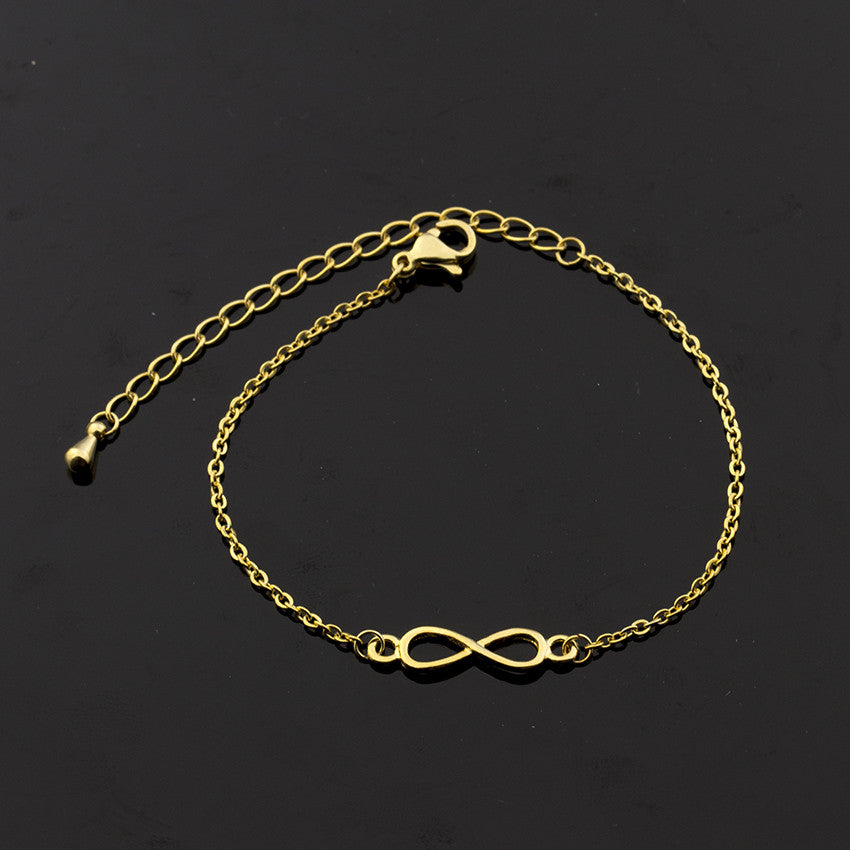 Geometric Bijoux Femme Rose Gold Infinity Bracelet - Shop at GlamoRight.Com