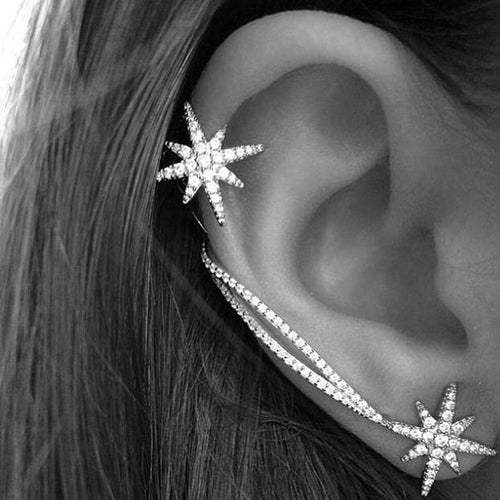 Star Clip Earrings Ear Cuff - Shop at GlamoRight.Com