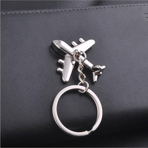 Silver plated 3D airplane pandant  Keychain - Shop at GlamoRight.Com