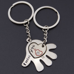 Fashionable Palms and Lover Key Ring - Shop at GlamoRight.Com