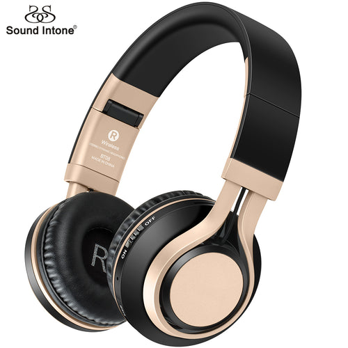 Sound Intone BT08 Bluetooth Headphone Support TF Card FM Wireless Headphones With Mic Bass Gaming Headset For iphone Xiaomi PC